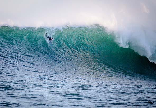 Surfer à Moliets